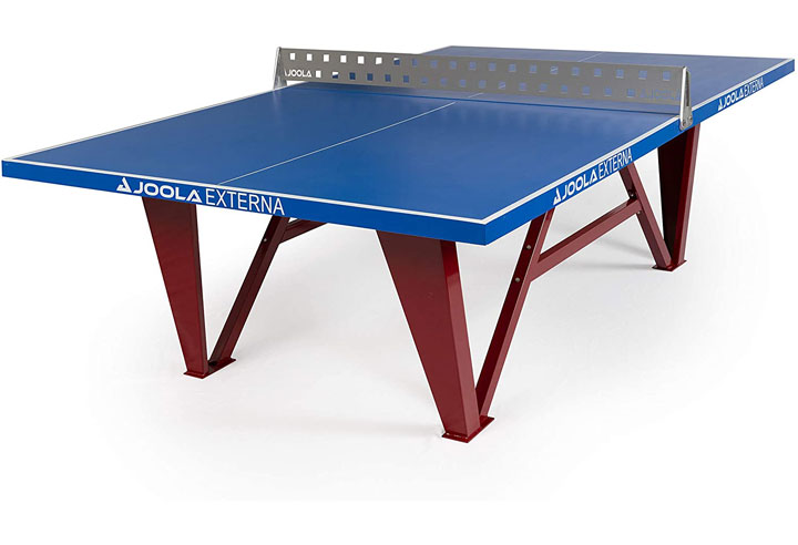 JOOLA Externa - Table Tennis Table with Weather-proof Steel Ping Pong Net Set