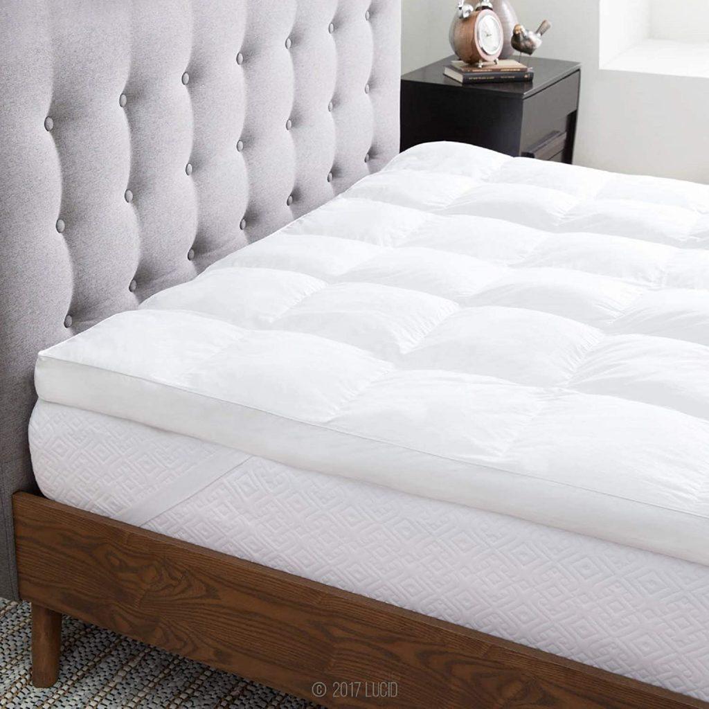 LUCID Ultra Plush 3 Inch Down Alternative Fiber Bed Mattress Topper